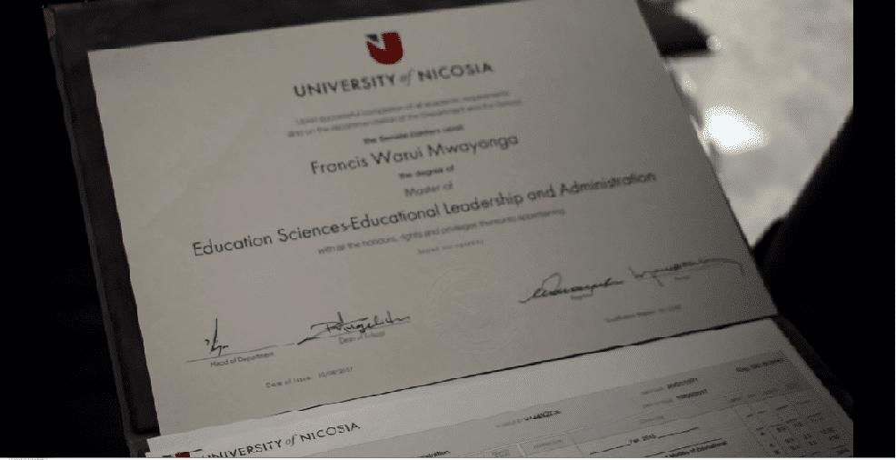unicaf certificate